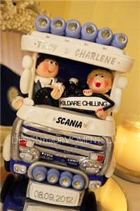 Accessories & Favours. Couple Riding Scania Truck