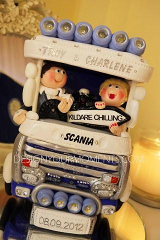Accessories & Favours, Couple Riding Scania Truck