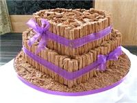 Cakes. Cadbury Delight Wedding Cake. Each wedding cake is decorated to your own specification and co