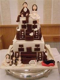 Cakes. Suitcases Wedding Cake. Each wedding cake is decorated to your own specification and colour t