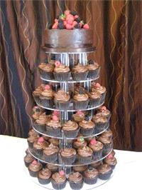 Cakes. Chocolate Delight Cupcakes. Each wedding cake is decorated to your own specification and colo