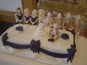 Cakes, Top Table Wedding Cake. Each wedding cake is decorated to your own specification and colour t