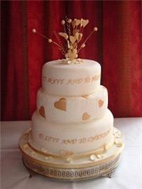 Cakes. Love and Cherish Wedding Cake. Each wedding cake is decorated to your own specification and c