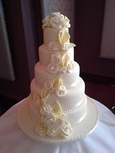 Cakes, Helena Wedding Cake. Each wedding cake is decorated to your own specification and colour them