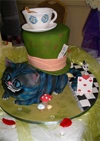 Cakes. Alice in Wonderland Wedding Cake. Each wedding cake is decorated to your own specification an