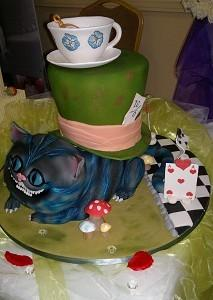 Cakes, Alice in Wonderland Wedding Cake. Each wedding cake is decorated to your own specification an