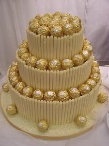 Cakes, Ferrero and White Chocolate Wedding Cake. Each wedding cake is decorated to your own specific