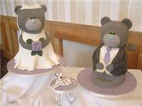 Cakes. Wedding Bears Wedding Cake. Each wedding cake is decorated to your own specification and colo