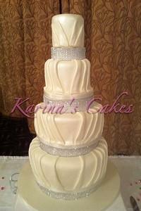 Cakes. Fiona Wedding Cake. Each wedding cake is decorated to your own specification and colour theme