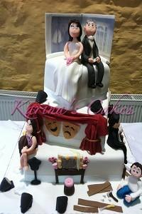 Cakes. Actress Ciara Wedding Cake. Each wedding cake is decorated to your own specification and colo