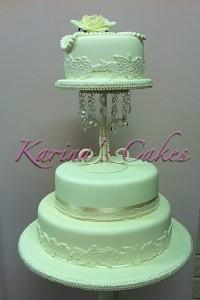 Cakes. Lace and Pearls Wedding Cake. Each wedding cake is decorated to your own specification and co