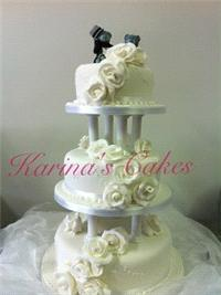 Cakes. Trail and Teddies Wedding Cake. Each wedding cake is decorated to your own specification and