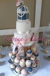 Cakes, Vintage Birdcage Wedding Cake. Each wedding cake is decorated to your own specification and c