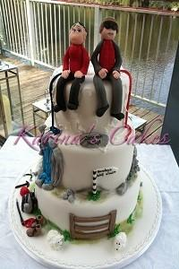 Cakes. Mountain Climbing Bride and Groom Wedding Cake. Each wedding cake is decorated to your own sp
