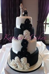 Cakes. Black and White Wedding Cake. Each wedding cake is decorated to your own specification and co