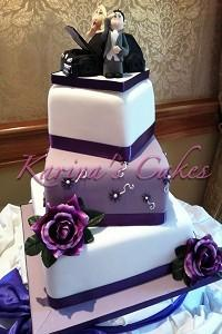 Cakes. Pretty in Purple Wedding Cake. Each wedding cake is decorated to your own specification and c
