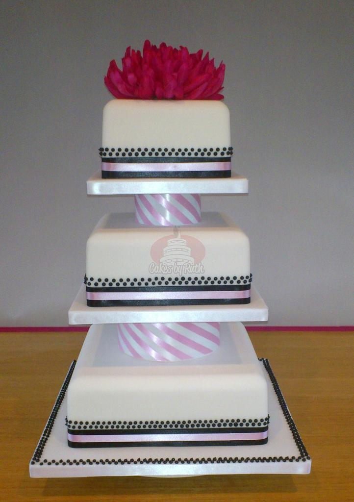 Cakes, 3-Tier Candy Stripe