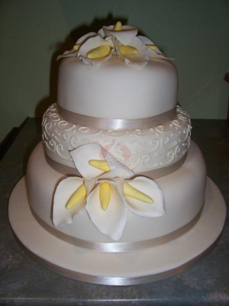 Cakes, Scroll and Lilies