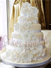 Cakes. Six-Tier Flower Wedding Cake