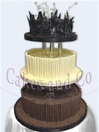 Cakes. All-Chocolate Wedding Cake
