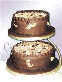 Cakes. Autumn Gold Wedding Cake