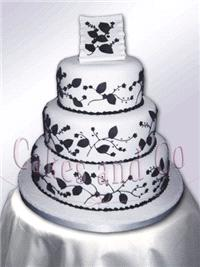 Cakes. Black and White Wedding Cake
