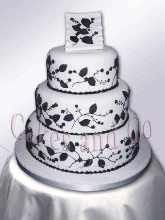 Cakes, Black and White Wedding Cake