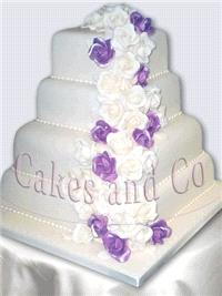 Cakes. Cascade Wedding Cake