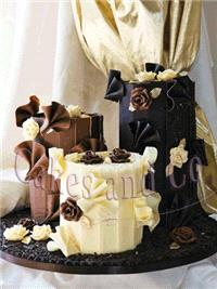 Cakes. Choc Surprise Wedding Cake