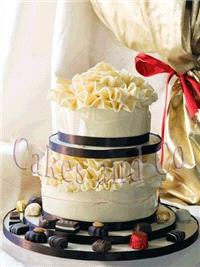 Cakes. Choc Wrap Stacked Wedding Cake