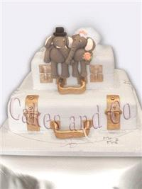 Cakes. Elephants and Cases Wedding Cake