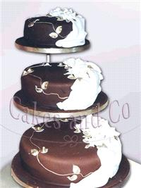 Cakes. Choc Drapes Wedding Cake