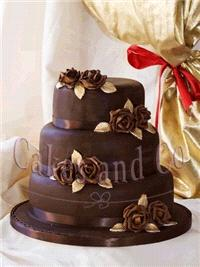 Cakes. Choc and Roses Wedding Cake