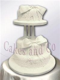 Cakes. Cornelli and Bow Wedding Cake