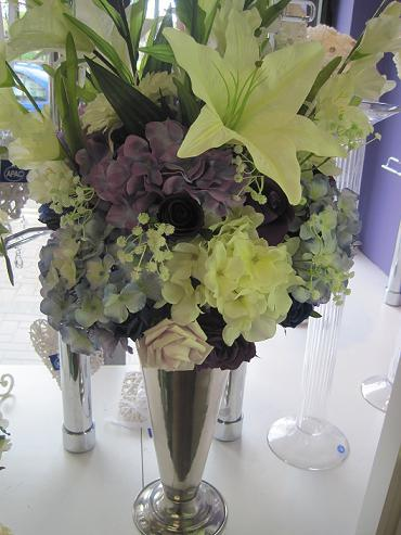 Flowers, Purple floral arrangement