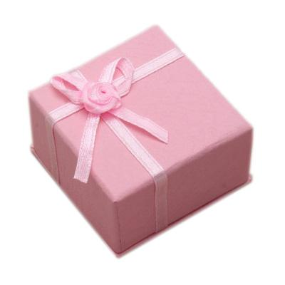 Accessories & Favours, Pack of 10 light pink favour boxes trimmed with pink ribbon (5x5x3cm).