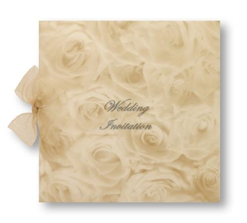 Stationery, Perfect Moment Day Invite. Ivory pearlescent card, layered on the inside with ivory pear