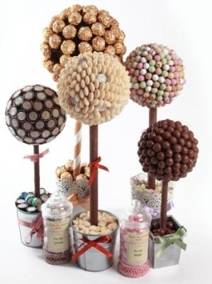 Miscellaneous, Sweet trees can be designed in all shapes and sizes. They can be displayed as a table