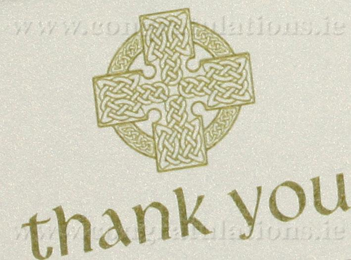 Stationery, Celtic ivory thank-you card