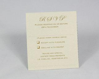 Stationery, Vintage lace (ivory) RSVP card