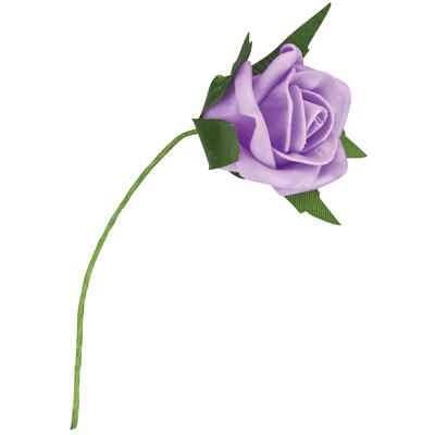 Flowers, Lilac Small Economy Foam Rose Flower. Size: 4.5cm.