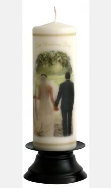 Decor & Event Styling, Together Forever Wedding Candle Ivory Pillar 22cm