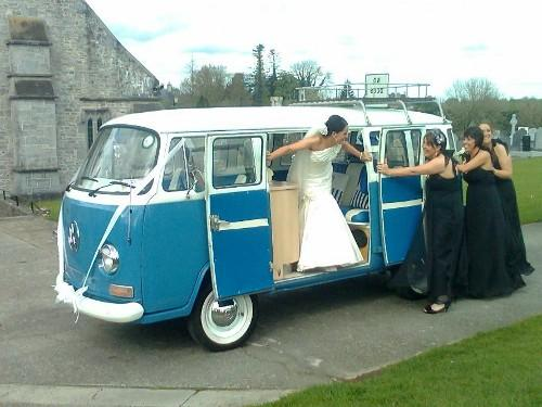 Chauffeurs, 1976 VW camper van. VW vehicles available for weddings in the Munster & Leinster areas.