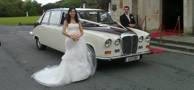 Chauffeurs, Daimler DS420 Limousine in burgundy and ivory. Other vehicles available. Service offered