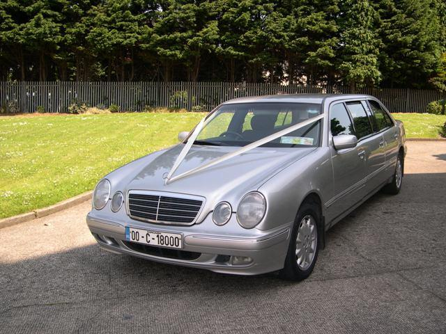 Chauffeurs, Silver Mercedes (7 seater) E-Class Limousine. Other vehicles available. Service offered