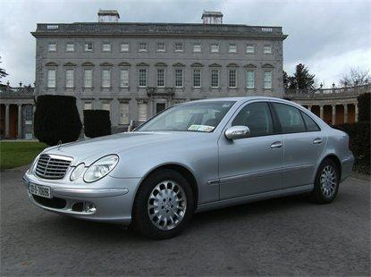 Chauffeurs, Mercedes E Class comes in a silver exterior with a black leather interior, with comforta