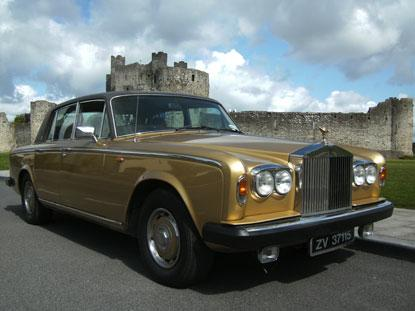 Chauffeurs, 1978 Rolls Royce Silver Shadow comes in a willow gold exterior with a chesnut everflux r