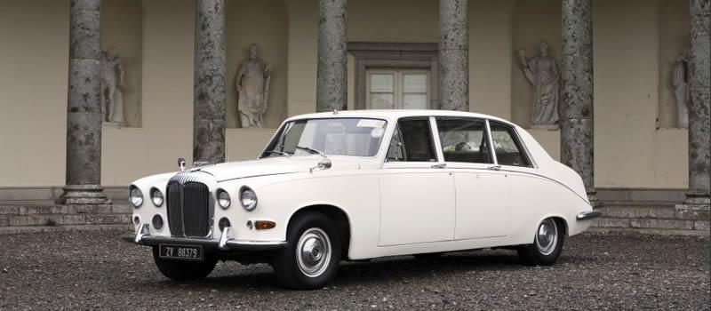 Chauffeurs, 1975 Daimler DS420 Limousine. Vehicle supplied with a fully trained uniformed chauffeur.