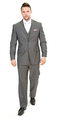 Attire. Rome Grey Plain Polyviscose (Ref. 12-361-REG). Classic tailoring, 2 button jacket, with doub
