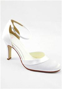 Attire. Else by Rainbow Royale Ivory Shoes. High supportive back shoe with ankle adjustable strap an